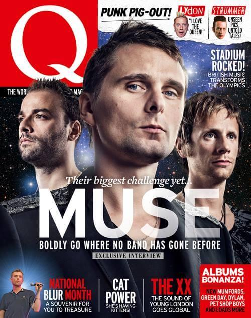 Muse couverture Q magazine août 2012